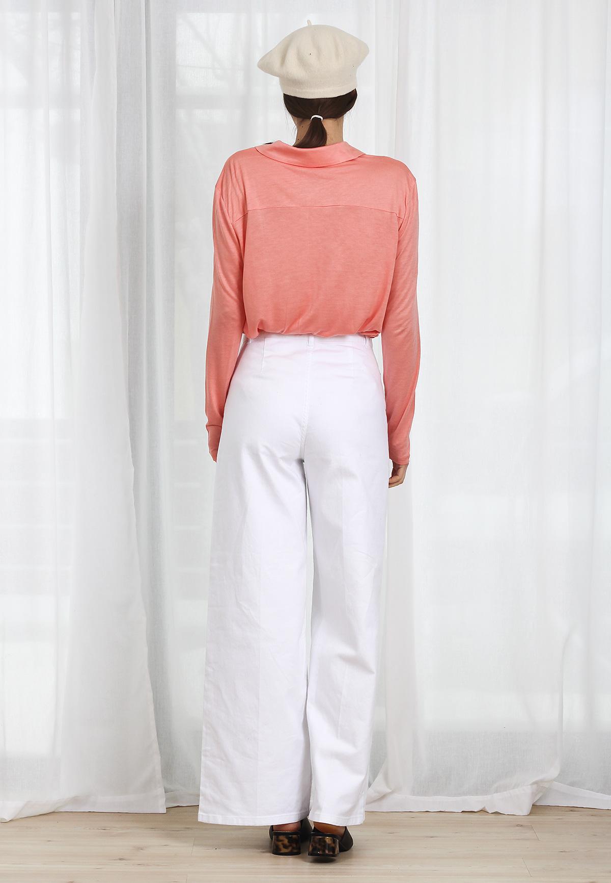 Bluza polo COS Peach