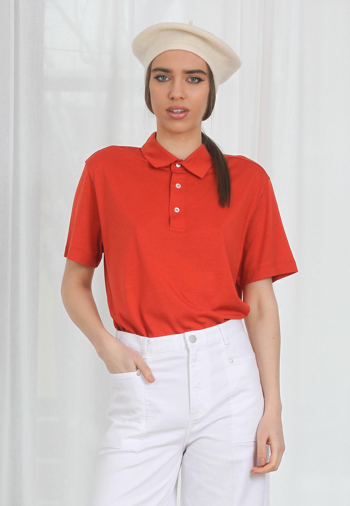 Tricou Polo Intense Orange