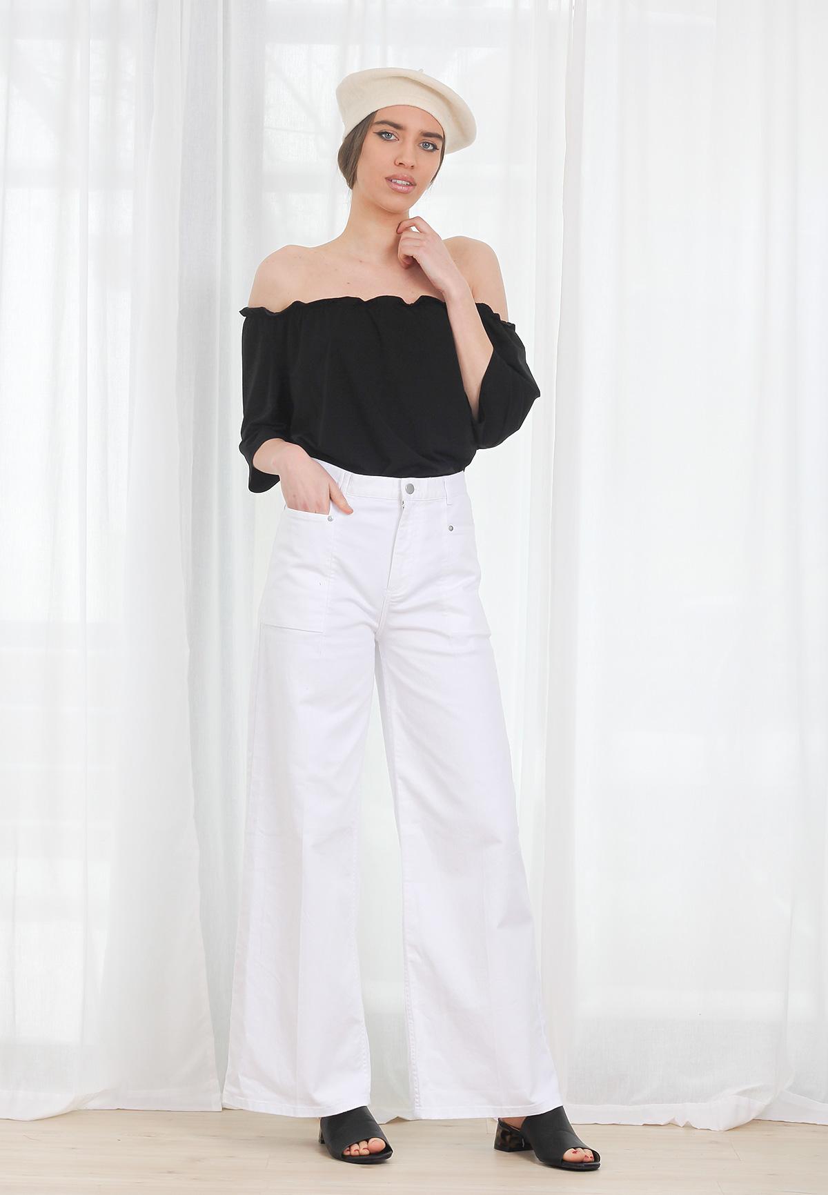 Bluza COS Bare Shoulders Black