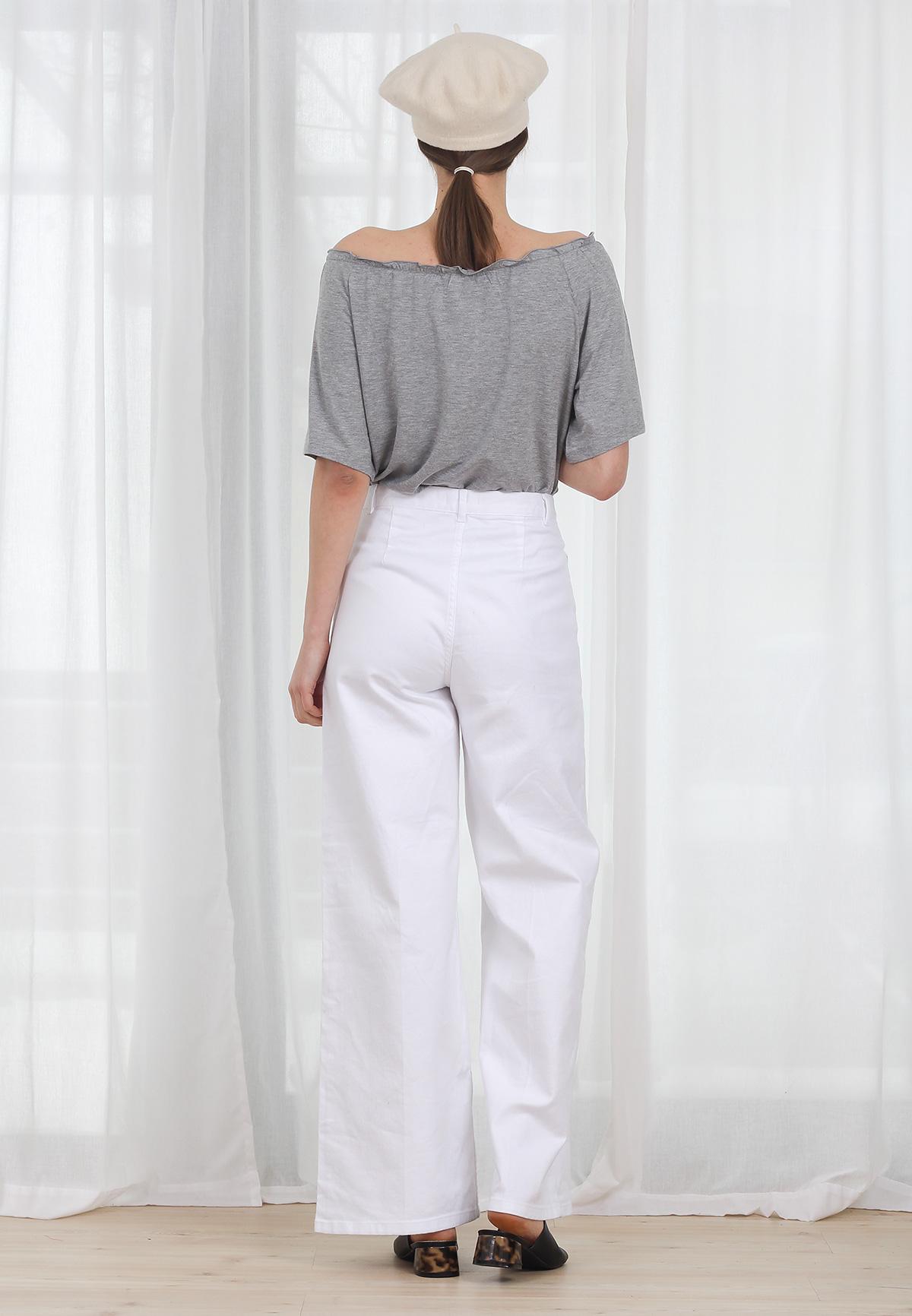 Bluza COS Bare Shoulders Grey