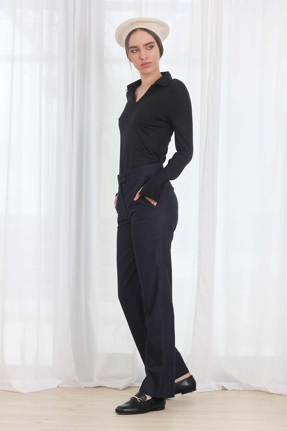 Bluza COS Micro Polo Black