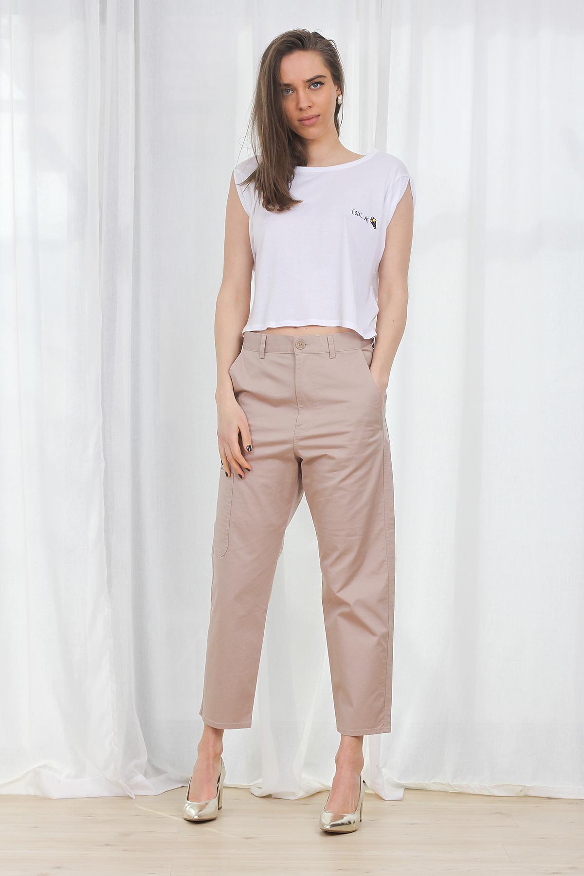 Pantaloni COS Summer Beige