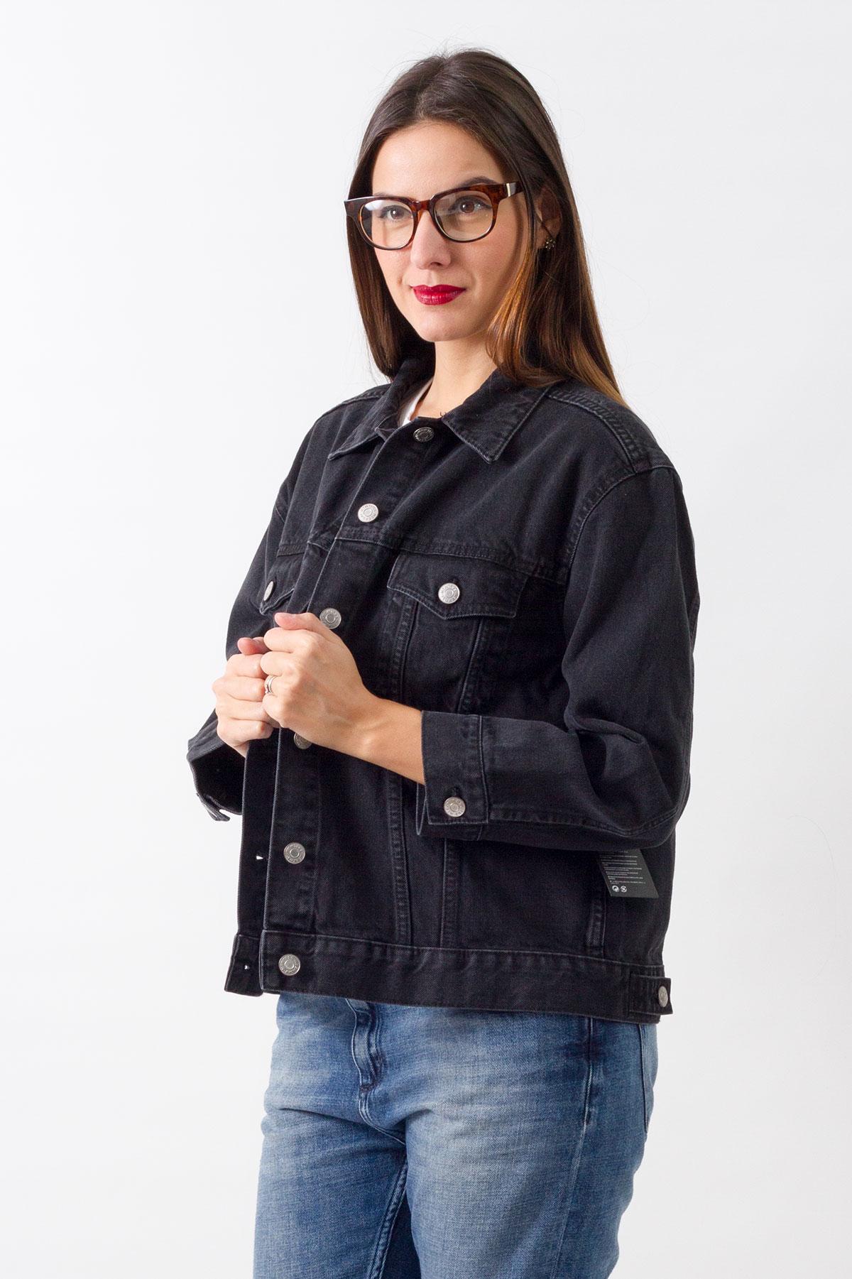 Jacheta de blugi Weekday Black