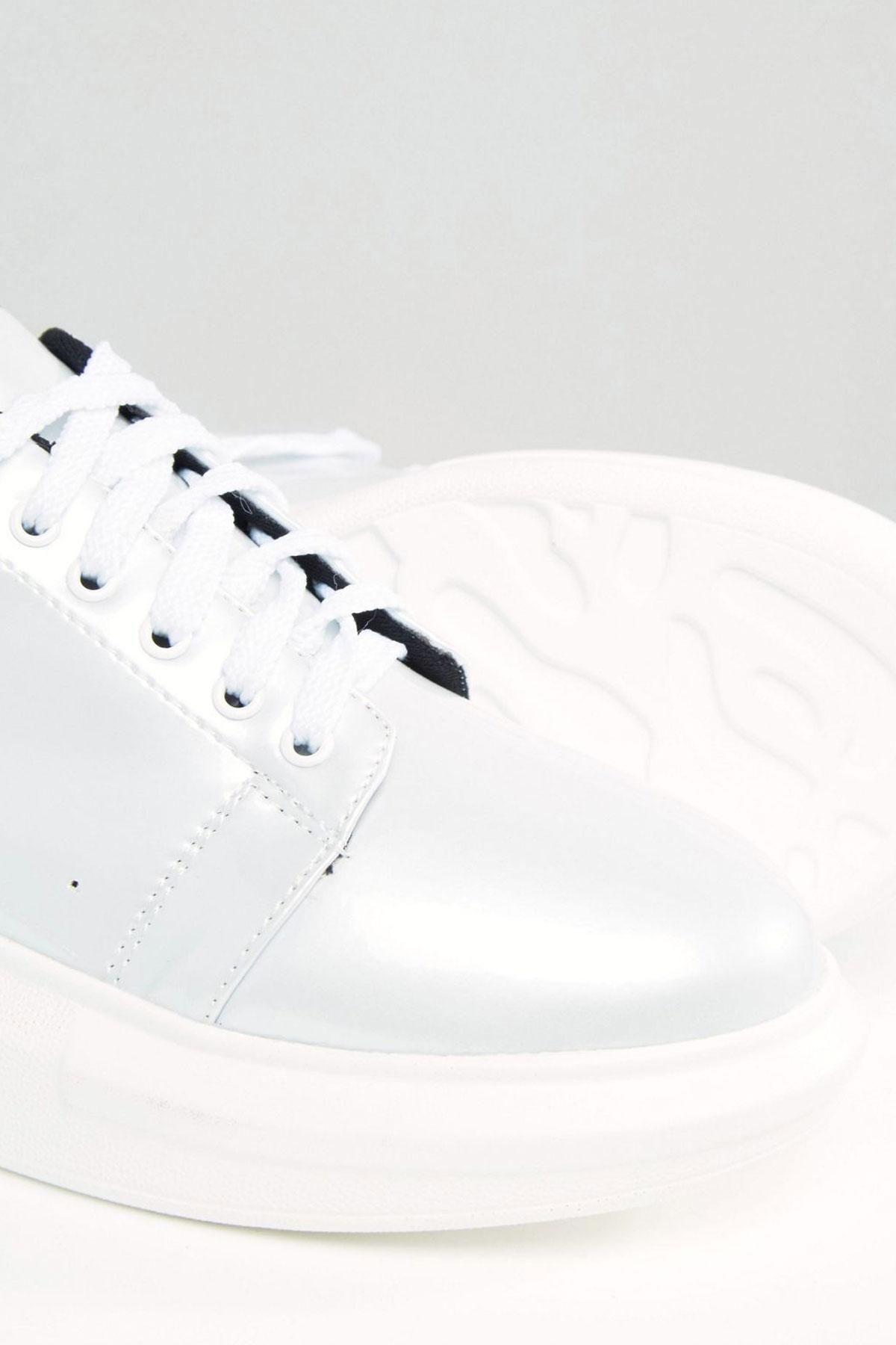Pantofi sport Daisy Street White Irridescent