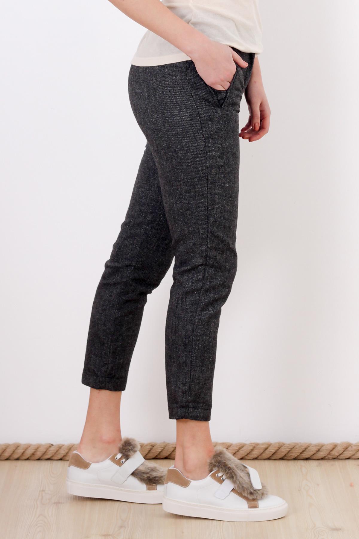 Pantaloni din stofa gri Pimkie