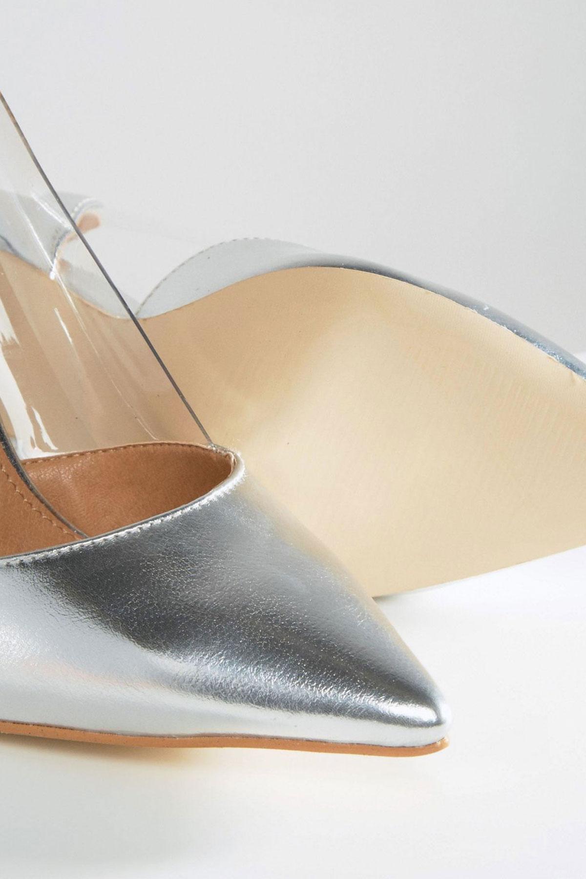 Pantofi Public Desire Keely Silver