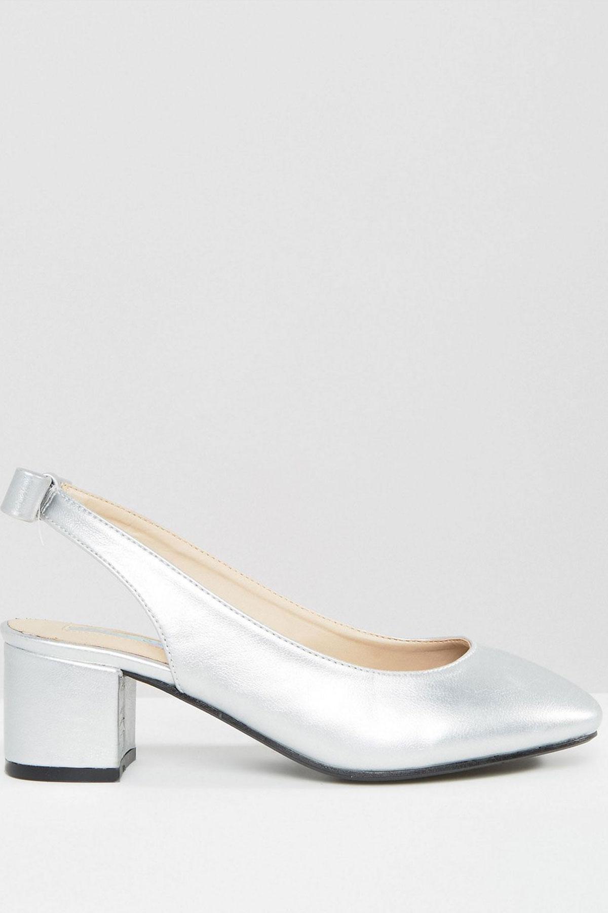 Pantofi Daisy Stret Sling Silver