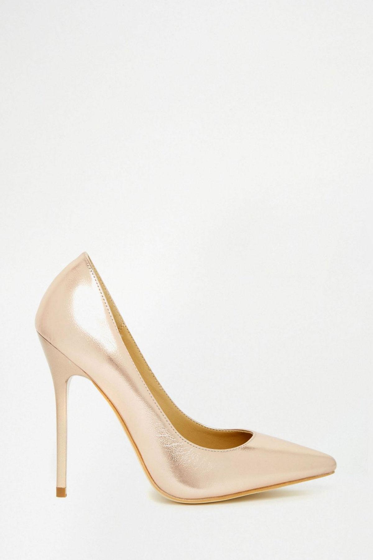 Pantofi Public Desire Josie Rose Gold