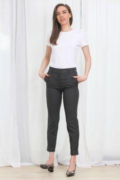Pantaloni din stofa Monki Grey
