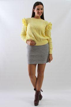 Fusta tricotata gri