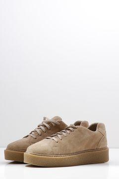 Pantofi sport din piele naturala Beige