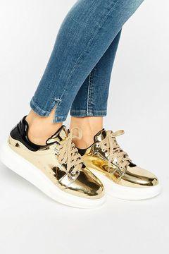 Pantofi sport Daisy Street Gold Metallic
