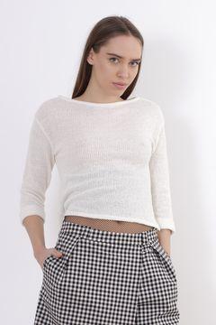 Bluza alba cu maneca trei sferturi Zara