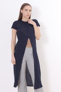 Rochie bleumarin decupata in fata Zara