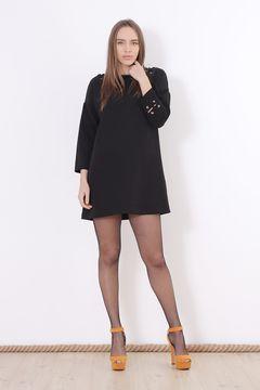 Rochie neagra cu maneci lungi Zara