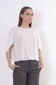 Bluza alba semi-transparenta Zara