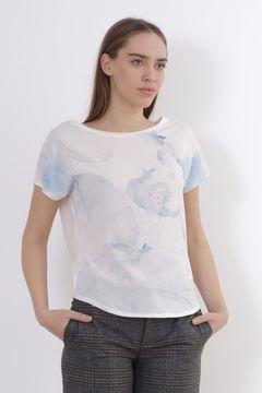 Tricou alb cu imprimeu Zara