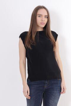 Bluza neagra fara maneci Zara