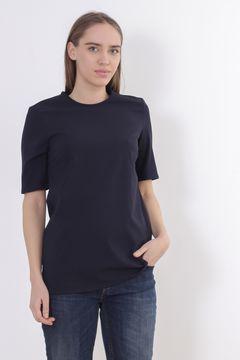 Tricou negru cu menci scurte Zara