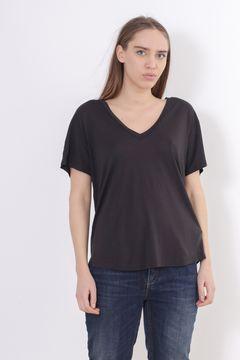 Tricou negru cu anchior Zara