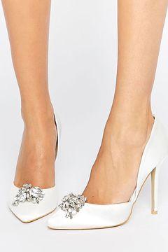 Pantofi True Decadence Satin Embelished