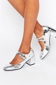 Pantofi Glamorous Mary Jane Silver Flare