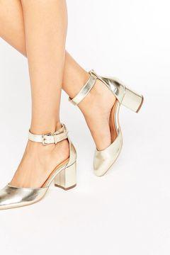 Pantofi Raid Jane Gold Ankle