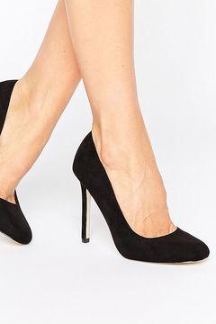 Pantofi Asos Playtime Square Black