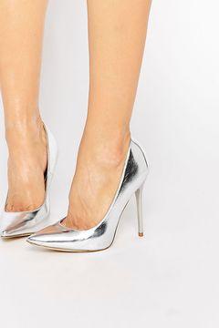 Pantofi Public Desire Josie Silver