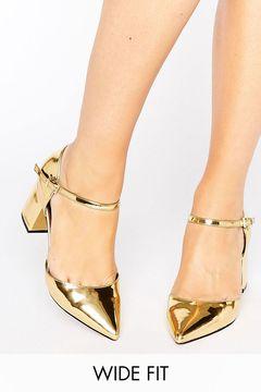 Pantofi Asos Soraya Gold