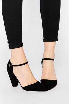 Pantofi Asos Speaker Pointed Black